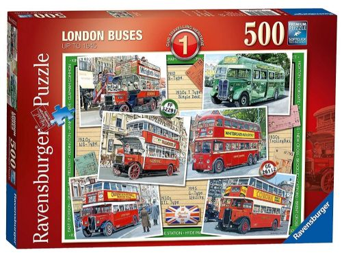 Ravensburger - LONDON BUSES up To 1945 - 500 Pieces